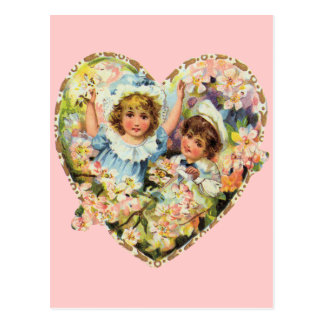 Romantisk vintagevalentines vykort