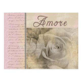 Romantiska Amore Vykort
