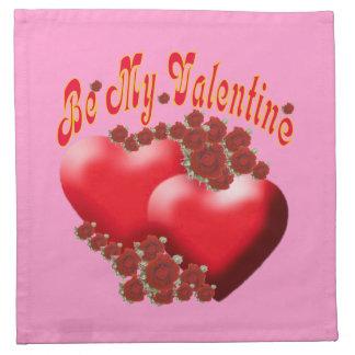 Romantiska hjärtor och blommaamerikanMoJo servett