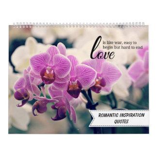 Romantiska inspireras citationstecken kalender