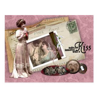 Romantiska kärlekbrev för Victorian Vykort
