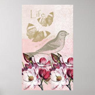 Romantiska Magnolias Poster
