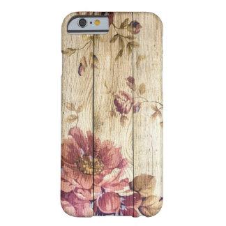 Romantiska ro för shabby chic på träväggen barely there iPhone 6 fodral