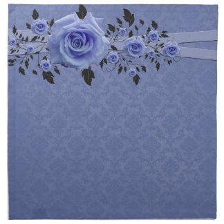Romantiska servetter för blåttrodamast