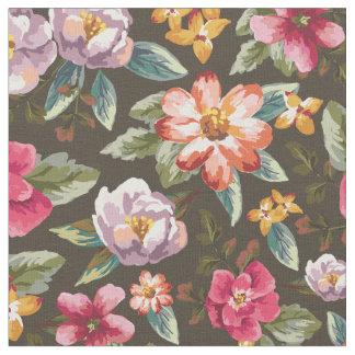 Romantiska vintageblommor för blommönster | tyg