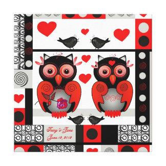 Romantiskt bröllop eller valentintryck med text canvastryck