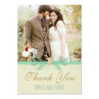 Romantiskt bröllop för lantligt KORT för hjorthorn 12,7 X 17,8 Cm Inbjudningskort