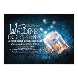 Romantiskt lantligt gifta sig för för masonburk & 12,7 x 17,8 cm inbjudningskort