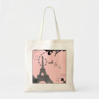 Romantiskt Paris för vintageeiffel torn gifta sig Tygkasse
