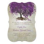 Romantiskt purpurfärgat bröllop för hjärtalövträd