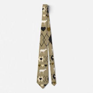 Romantiskt valentin dagmönster med hjort slips