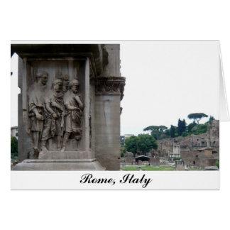 Romaren fördärvar hänrycker i den Rome italien Hälsningskort