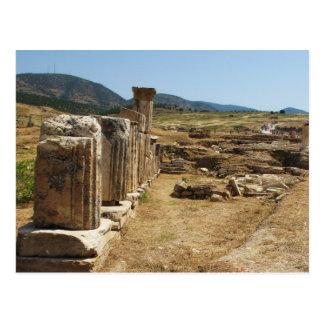 Romaren fördärvar på Hierapolis Pamukkale Turkiet Vykort