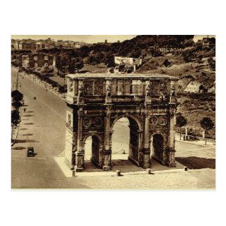 Rome båge av Constantine Vykort