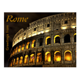 Rome - Coliseum på natten Vykort
