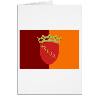 Rome flagga hälsningskort