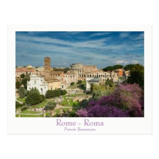 Rome - foraRomanum vykort med text