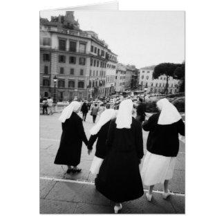 Rome italien, nunnapatrull! (NR) Hälsningskort