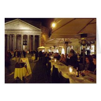 Rome italien på natten hälsningskort