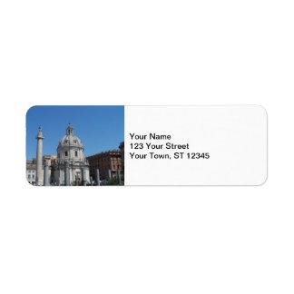Rome italien returadress etikett
