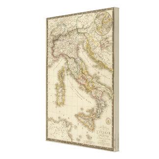 Rome kartbokkarta canvastryck