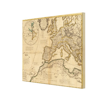 Rome och östlig halvklot canvastryck