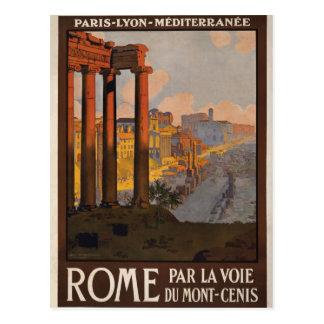 Rome till och med Monten-Cenis Vykort