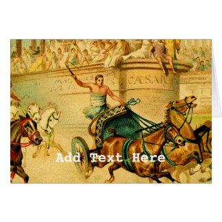 Rome triumfvagntävling hälsningskort