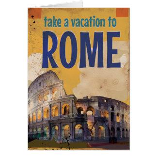 Rome vintage resoraffisch hälsningskort
