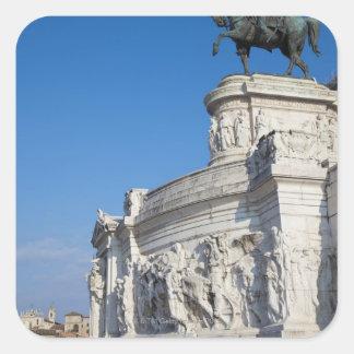 Rome Vittorio Emanuele monument Fyrkantigt Klistermärke