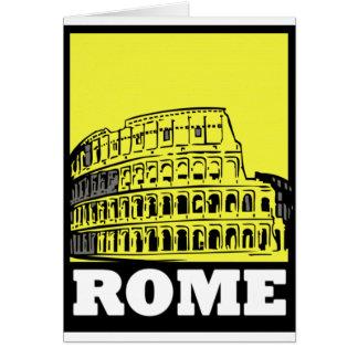 Rome vykortdesign hälsningskort