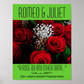 Romeo & Juliet affisch en roShakespeare festival