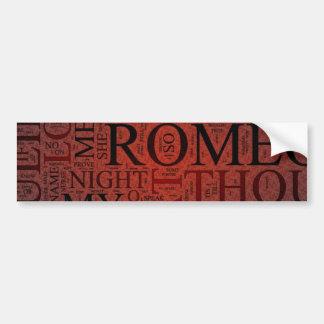 Romeo och Juliet (röd) klistermärke