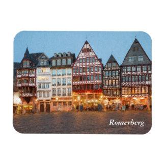 Romerberg i huvudsakliga Frankfurt - förmiddag - Magnet