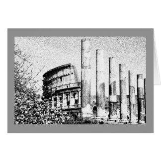 Romersk Coliseum, Rome italien Hälsningskort