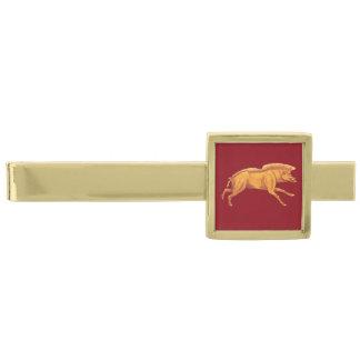 Romersk imperialistisk galtslipshållare guldpläterad slipsnål