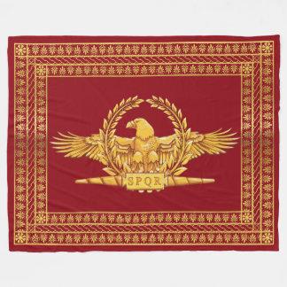 Romersk imperialistisk örn SPQR Fleecefilt