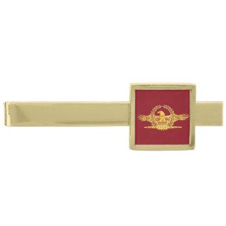 Romersk imperialistisk slipshållare för örn SPQR Slipsnål Med Guldfinish