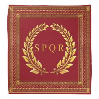 Romersk imperialistisk SPQR- och lagrarBandana Scarf