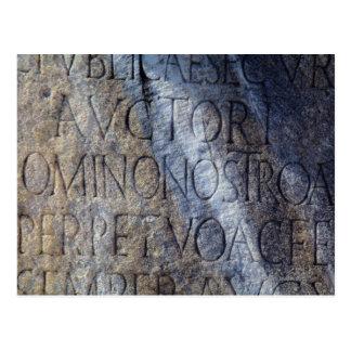 Romersk typografi på fora, Rome, italien Vykort