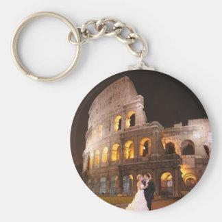 Romerska gifta sig Colosseum KeyChain Rund Nyckelring