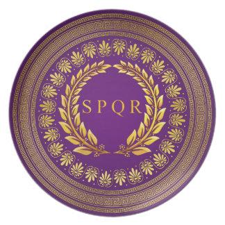 Romerska imperialistiska SPQR pläterar Tallrik