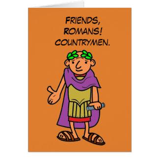 Romerska kejsaregrattis på födelsedagenhälsningar hälsningskort