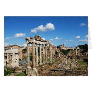 Romerskt fora hälsningskort