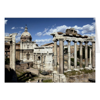 Romerskt fora, Rome, italien Hälsningskort