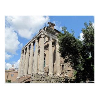 Romerskt fora - tempel av Antoninus Vykort