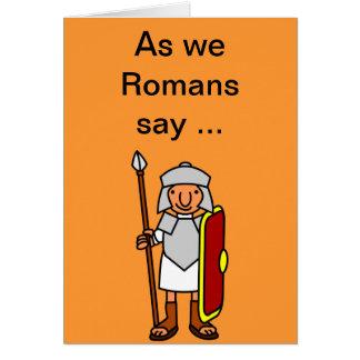 Romerskt grattis på födelsedagenhälsningkort hälsningskort