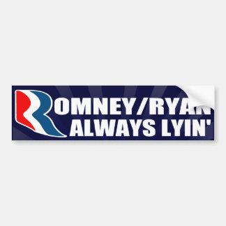 Romney/Ryan alltid Lyin bildekal