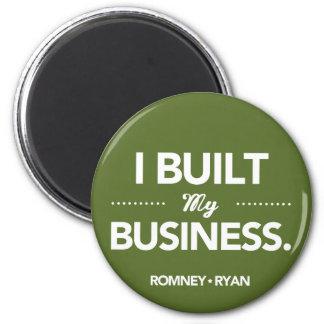Romney Ryan byggde jag min affärsrunda (grönt) Magnet