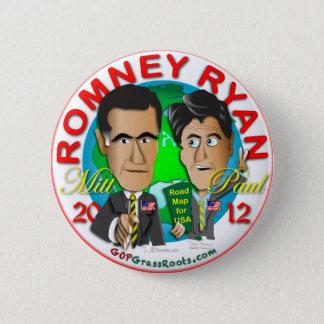 Romney Ryan Standard Knapp Rund 5.7 Cm